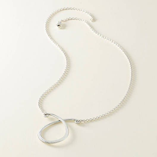 View Larger Image of Changeable Loop Charm Holder Necklace
