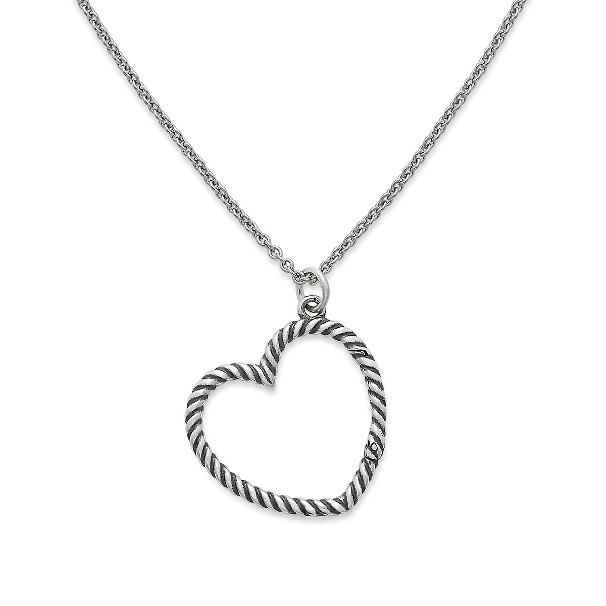 Changeable Heart Charm Holder Necklace   James Avery
