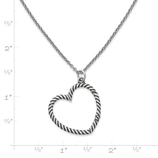 View Larger Image of Changeable Heart Charm Holder Necklace