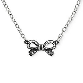 Petite Vintage Bow Necklace