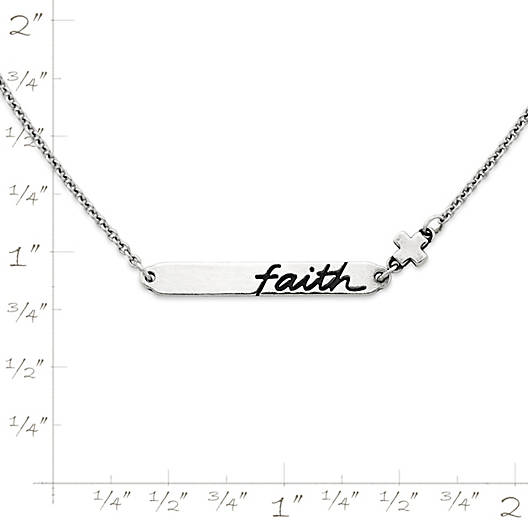 "View Larger Image of ""Faith"" Horizon Necklace"