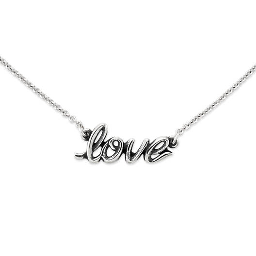 View Larger Image of Love Script Necklace