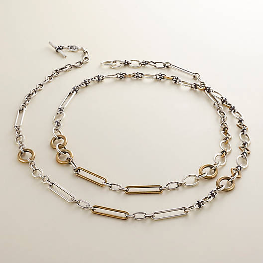 View Larger Image of Geometric Links Necklace