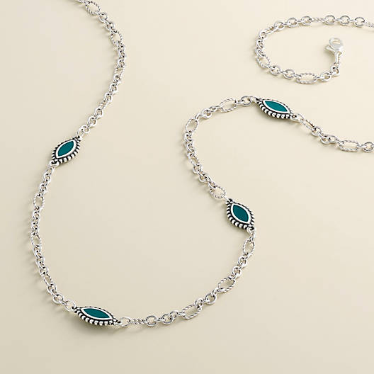 View Larger Image of Enamel Blue Cordoba Necklace