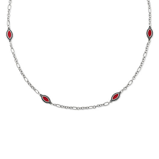 View Larger Image of Enamel Red Cordoba Necklace