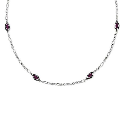 View Larger Image of Enamel Purple Cordoba Necklace