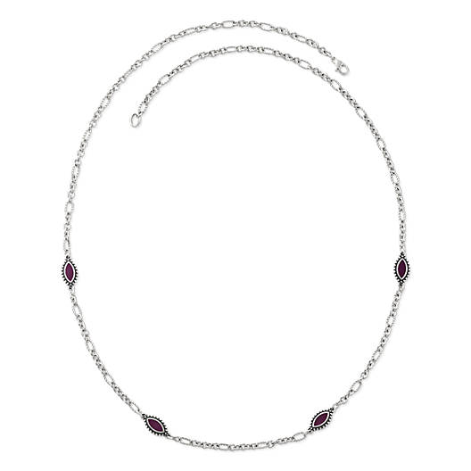 View Larger Image of Enamel Purple Cordoba Necklace