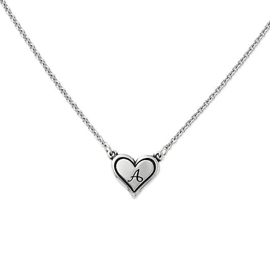View Larger Image of Delicate Heart Initial Necklace
