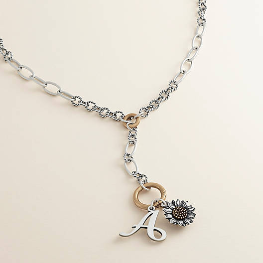 View Larger Image of Circle Lariat Changeable Charm Necklace