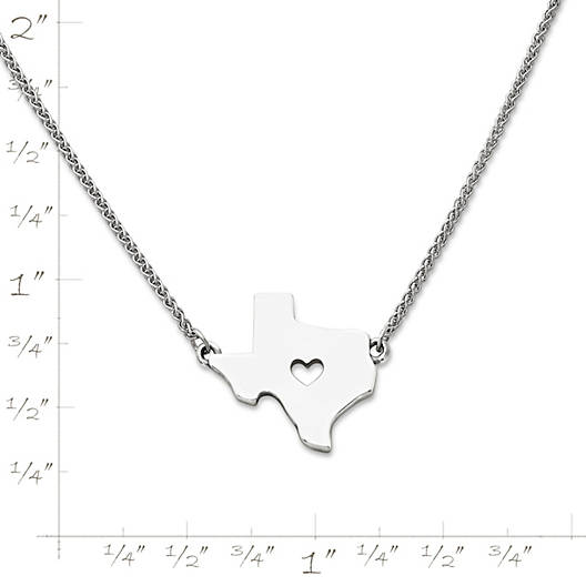 View Larger Image of I Love Texas Necklace