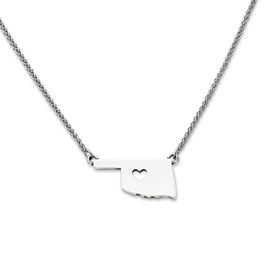 View Larger Image of I Love Oklahoma Necklace
