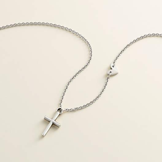 Long chain with charm faith symbol