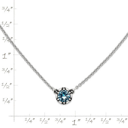 View Larger Image of Cherished Birthstone Necklace with Blue Topaz