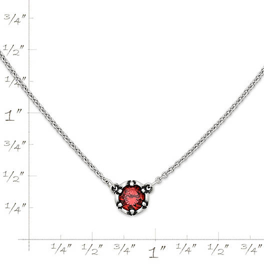 View Larger Image of Cherished Birthstone Necklace with Garnet