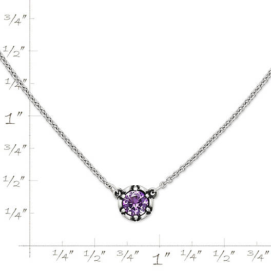 View Larger Image of Cherished Birthstone Necklace with Amethyst