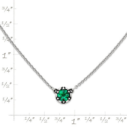 View Larger Image of Cherished Birthstone Necklace with Lab-Created Emerald