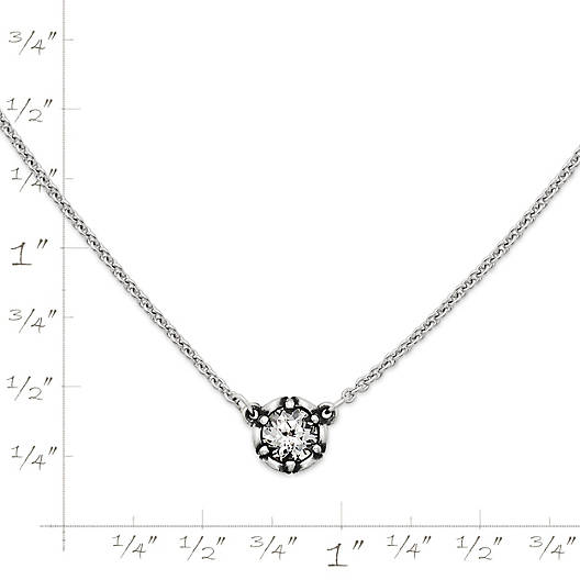 View Larger Image of Cherished Birthstone Necklace with Lab-Created White Sapphire