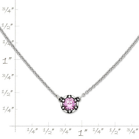 View Larger Image of Cherished Birthstone Necklace with Lab-Created Pink Sapphire