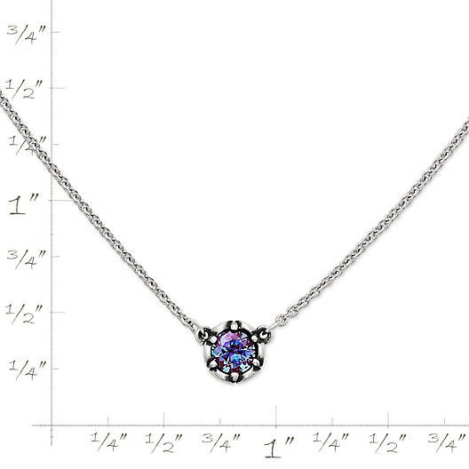 View Larger Image of Cherished Birthstone Necklace with Lab-Created Alexandrite