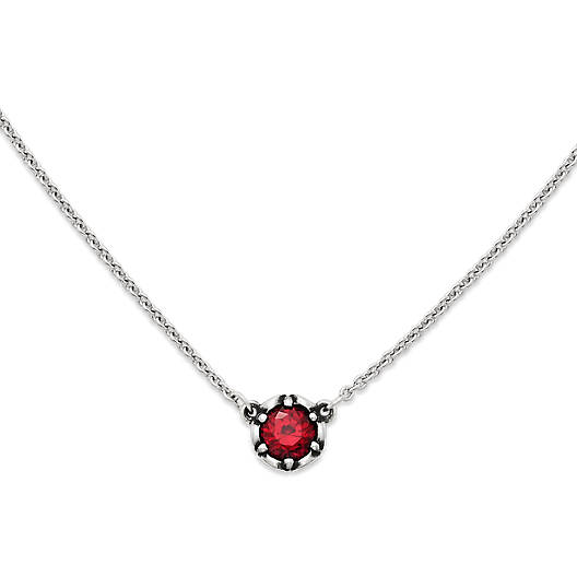 View Larger Image of Cherished Birthstone Necklace with Lab-Created Ruby