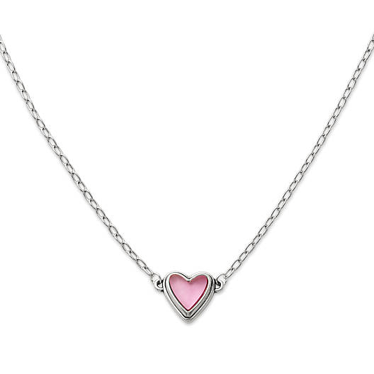 View Larger Image of Sweetheart Pink Doublet Necklace