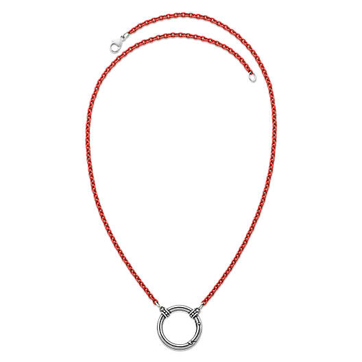 View Larger Image of Enamel Red Beaded Changeable Charm Holder Necklace