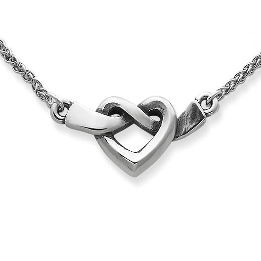 View Larger Image of Heart Knot Necklace