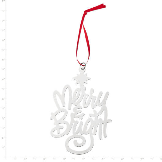 """View Larger Image of """"Merry & Bright"""" Ornament"""