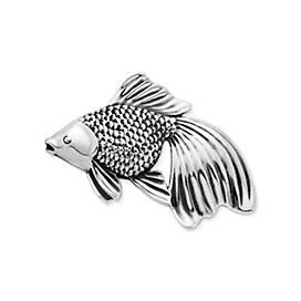 Fantail Goldfish Pin Pendant