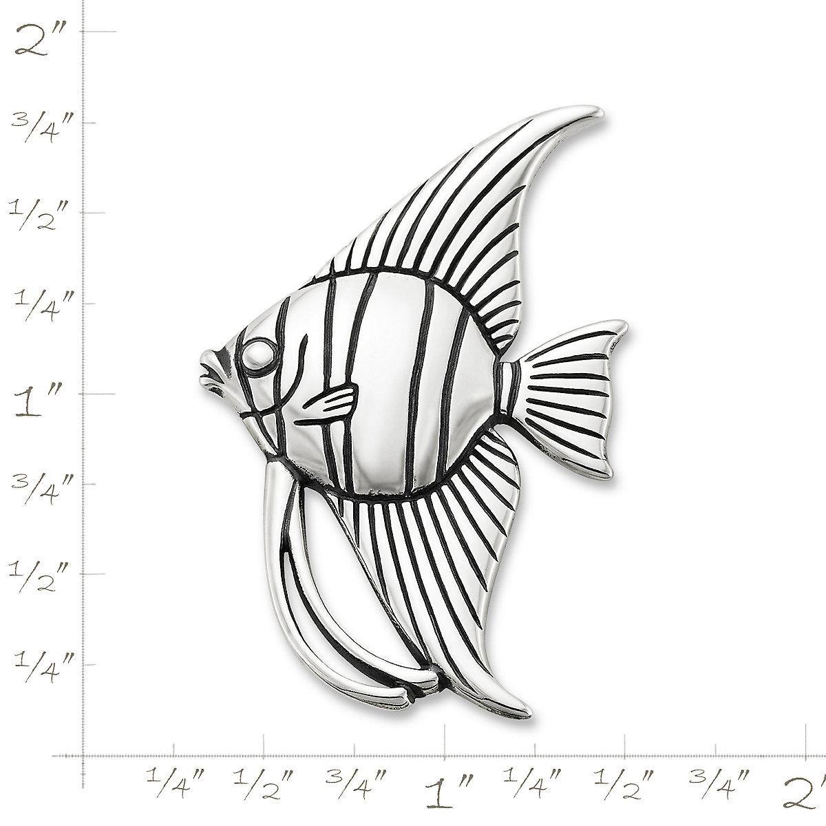 James Avery Angelfish Brooch Pendant Sterling Silver