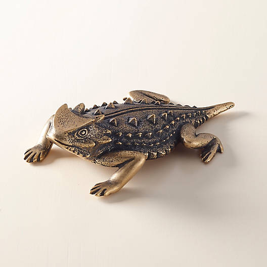 View Larger Image of Horned Toad Paperweight