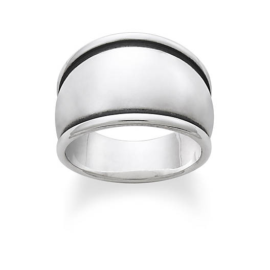 View Larger Image of Tapered Dome Signet Ring