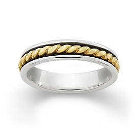 Gold Twist & Silver Band