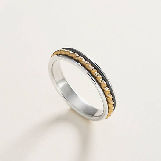 View Larger Image of Gold Twist & Silver Band