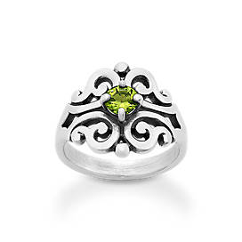 Spanish Lace Ring with Peridot