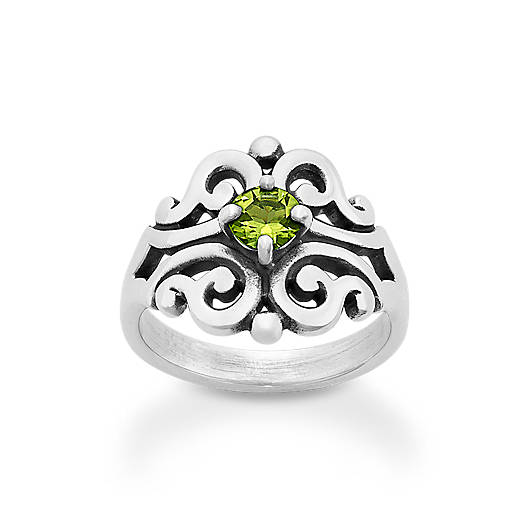 View Larger Image of Spanish Lace Ring with Peridot