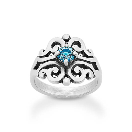 View Larger Image of Spanish Lace Ring with Blue Topaz