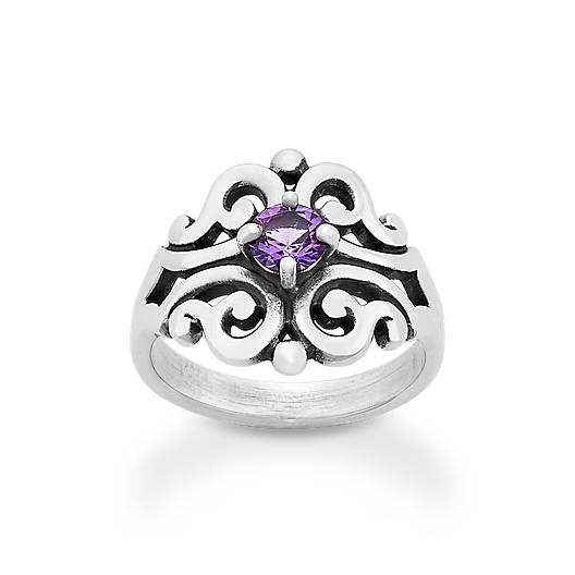 View Larger Image of Spanish Lace Ring with Amethyst