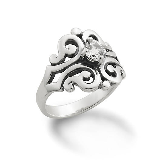 View Larger Image of Spanish Lace Ring with Lab-Created White Sapphire
