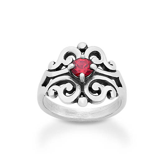 View Larger Image of Spanish Lace Ring with Lab-Created Ruby