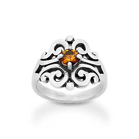 Spanish Lace Ring with Citrine