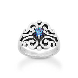 Spanish Lace Ring with Lab-Created Alexandrite
