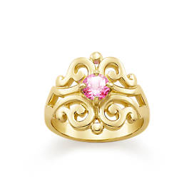 Spanish Lace Ring with Lab-Created Pink Sapphire