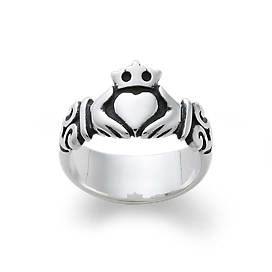 Adorned Claddagh Ring