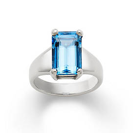 Bella Ring with Blue Topaz