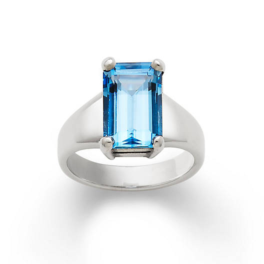 View Larger Image of Bella Ring with Blue Topaz