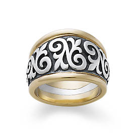 Scrolled Fleur-De-Lis Ring