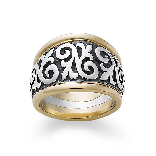 View Larger Image of Scrolled Fleur-De-Lis Ring