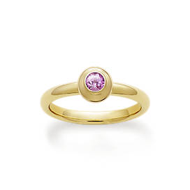 Avery Remembrance Ring with Lab-Created Pink Sapphire