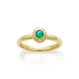 Avery Remembrance Ring with Lab-Created Emerald